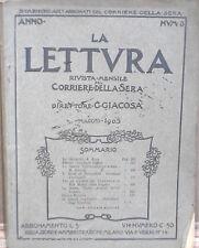 LA LETTURA CORRIERE DELLA SERA MAGGIO 1903 FESTOS CRETA NAPOLEONE TARTARUGA DI E