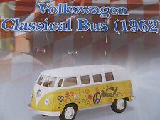 1962 Volkswagon Classical VW Pull-Back Bus Die Cast Metal 1:32 Scale