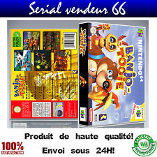 "Boitier du jeu ""BANJO TOOIE"", nintendo 64, visuel PAL FR. HD."
