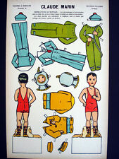 Imagerie d'Epinal/Pellerin Claude Marin, Bright Uncut Paper Dolls Inv1394