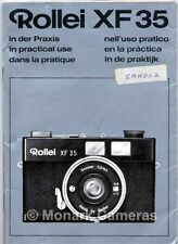 Rollei XF 35 Compact Camera Instruction Manual, More User Guide Books Listed