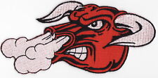 BULL - RED - IRON ON PATCH