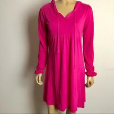 Michael Stars One Size Fits Most Pink Hooded Pullover Dress Swim Cover Medium