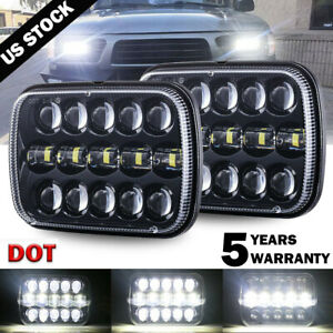 Pair DOT 5X7'' 7X6'' LED Headlight Sealed Beam For Ford F250 F350 E150 E250 E350