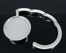 2 Silberf. Halbzeug Handtaschenhalter Taschenhaken44mm