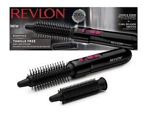 Revlon RVHA6017UK Ladies Tangle Free Hot Air Brush Hair Styler 2 Brush 19mm 25mm