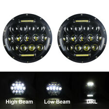For Jeep JK TJ Suzuki Samurai SJ410 7inch DRL LED Headlights Projector Headlamps