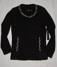 NWT Exclusively MISOOK Deluxe XS Evening Jacket Cardigan Sweater Jacquard Black