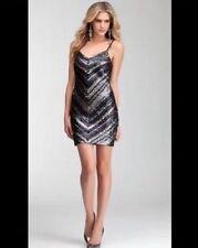Bebe Sparkling Sequins Bodycon Hot Sexy mini Dress Holidays NYE Xmas embellish S