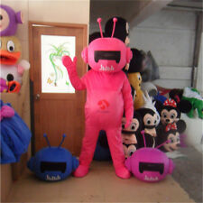 Advertising TH Robot Mascot Costume Unisex Suit Dress Adult Pink Astronaut Party
