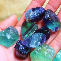 Natural Rainbow Fluorite Crystal Quartz Rough Raw Stone Healing Home Decor