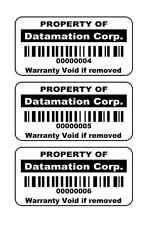 "1 Roll  of 2"" x 1""  1000  Custom Printed ID Labels Bar Code Bar code Stickers"