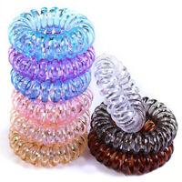 10PCS Telephone Line Hair Rope Elastic Hair Bands Ponytail Holder Tie Gum Band