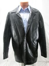 Gap Men's Leather Button Jacket Size Medium