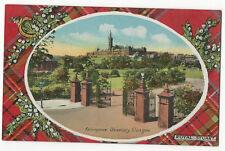 Scotland - Glasgow, Kelvingrove University - Royal Stuart Tartan - 1920's card
