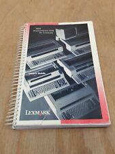 Ibm Wheelwriter 3500 Lexmark Electronic Typewriter Manual Operating Instructions