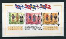 Fäeröer Føroyar 1983 blok 1 Huis van het Noorden Klederdracht cat waarde € 10