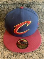 NBA Cleveland Cavaliers New Era 59Fifty 2-Tone Fitted Cap NBA Hat 7-1/2 *