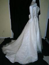 HENRY ROTH NY KLEINFELD WEDDING GOWN 10 IVORY SILK CRYSTALS BELINDA PRINCESS