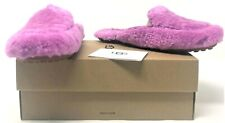 Ugg W Lane Fluff Shearling Bodacious Fluffy Purple Slide Loafer Slippers Size 6