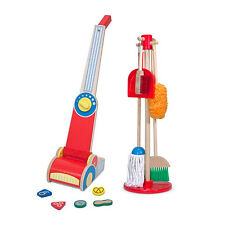 Mop & Broom Cleaning Kit and Vacuum Cleaner Toys by Melissa & Doug NEW