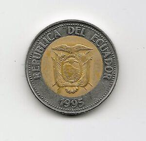 World Coins - Ecuador 500 Sucres 1995 Bimetallic Commemorative Coin KM#97 Lot-E3