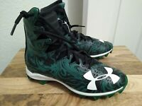 Under Armour Highlight Lux Football Cleats boys Size 4.5 Youth White/Black/Green