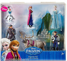 Disney Frozen Figure Set Elsa Anna Olaf Hans Kristoff Sevn 6 Piece Collectible
