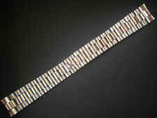 20MM STEEL PRESIDENT BAND BRACELET WITH FLAT ENDS FOR ROLEX MENS DAY-DATE WATCH