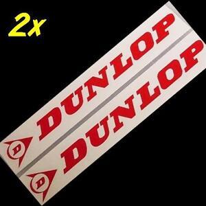 DUNLOP RED 8.25inch 21cm LONG decal sticker stickers fjr gsxr moto gp r6 zx6 gsx