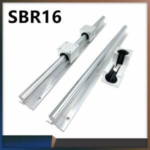 2X SBR16 300mm-1500mm Linearführung Linearwelle Rail + 4X SBR16UU Lagerblock DE