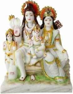 Lord Shiv Parivar Shiva Parwati Family Idol Statue Figurine