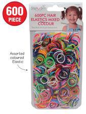 600 pcs MIXED Girls Rubber Hairband Rope Ponytail Holder Elastic Hair Band Ties