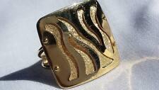 Handcrafted Turkish Tiger Motif Artisan Ring 14k Yellow Gold sz 6.75