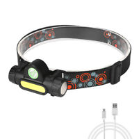 XPE+COB Magnetic dimming Headlamp Headlight USB Rechargable battery Head Torch