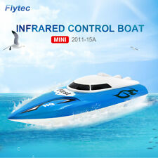 Flytec Hq2011-15A Rc Ship Toys Brushed Double Motor Blue Rc Boat Model Toy C9N9