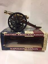 "1857 NAPOLEON CANNON BRASS BARREL 8"" LONG 3 1/2"" HIGH REPRODUCTION"