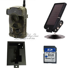 8GB Ltl Acorn 6310WMG MMS GPRS Trail Game Camera Hunt 7V Solar Panel Metal Box