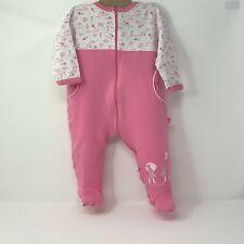 Miss COCCODRILLO baby GIRL pajamas European Sleepwear Pastel Pink White 9 months