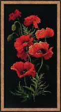 """Riolis 1057 - Poppies - Counted Cross Stitch Kit - 9 3/4"""" x 19 3/4"""""""