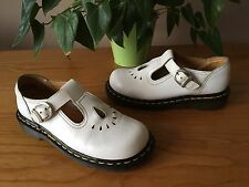 Dr Martens Vintage white leather 8065 Mary Jane buckle shoes UK 3 EU 36 England
