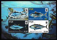 thon poisson MINI FEUILLE 4 Timbres MNH 2004 Fiji #1006 Skipjack Germon