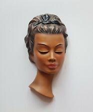 Alte Cortendorf Keramik Wandmaske Frau Nr. 3713, 1950s (025)