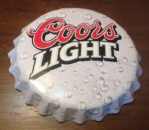 """Vintage 1998 Coors Light Beer Bottle Cap Bar Sign 18"""" Man Cave"""