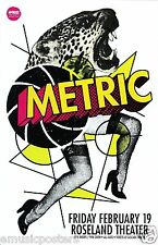 Metric 2016 Portland Concert Tour Poster - Indie Rock, New Wave, Synthpop Music