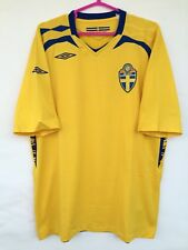 SWEDEN NATIONAL TEAM 2008 2009 UMBRO HOME FOOTBALL SHIRT JERSEY TRIKOT MAGILA