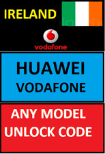 UNLOCK CODE IRELAND VODAFONE ANY HUAWEI & P10 P8 PSMART P20 PRO MATE LITE Y5 Y6