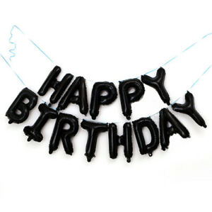 Happy Birthday Party Decor Flag Pull Banner Baby Shower Boy Girl Crown Balloon