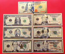 7Pcs/Set Gold Foil US Dollar Banknote Money Fake Currency Bill Collections Craft
