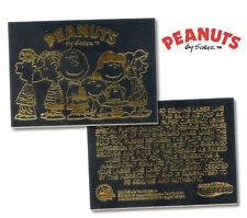 """PEANUTS """"Gang"""" SNOOPY CHARLIE BROWN Licensed 23K BLACK GOLD Card *Must See*"""